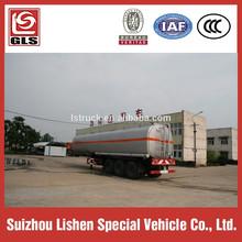 Fast delivery tri axles 45T aluminum fuel tanker trailer for transport