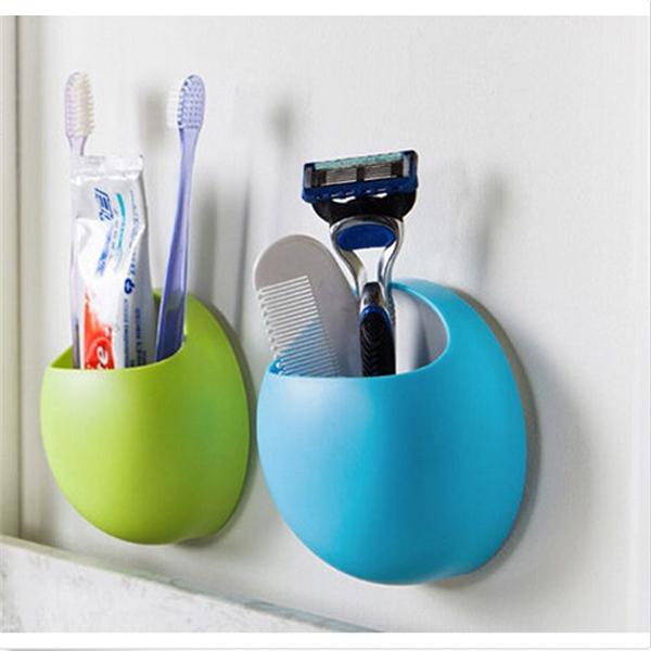 Organizador De Cepillo De Dientes De Pared-Wall Mount  Toothbrush Holder