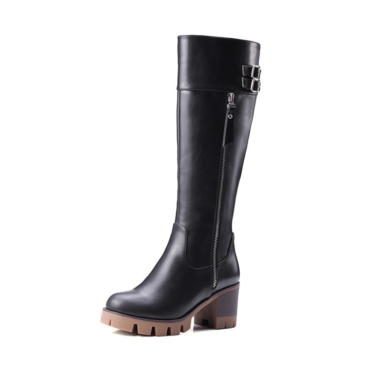 most popular cool casual women motorcycle platform boots