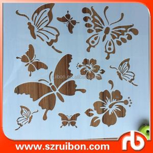 Laser cutting butterfly stencils template for craft/painting/drawing on wall/wood/glass/furniture home decoration wall stencils