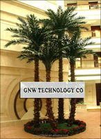 APM029-1 GNW 15ft artificial medjool date palms tree plastic plant for hotel decoration indoor use