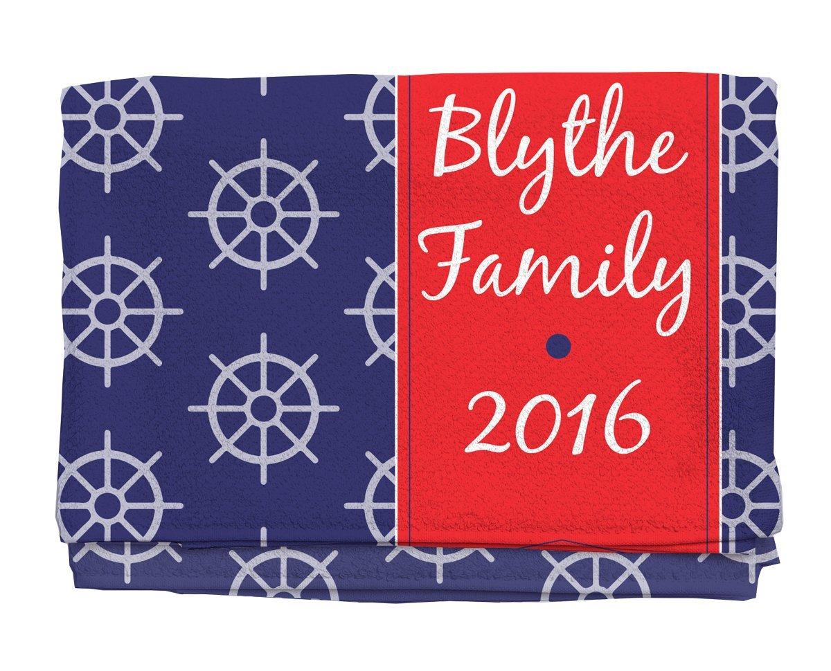 Tiller Personalized Beach Towel | Kids Towels | Custom Camp Towels | Custom Printed Towel | Monogrammed Pool Towel