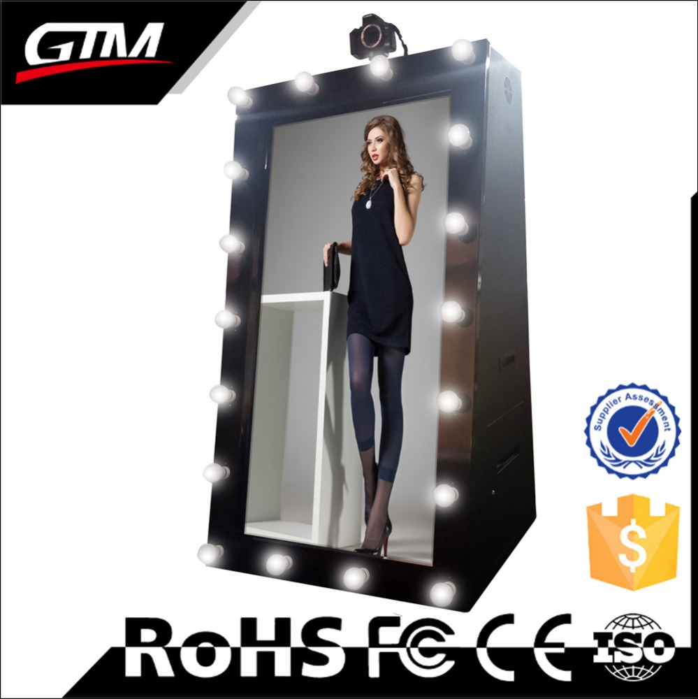 47 inch selfie photo mirror photo booth kiosk with printer and camera all in one pc interactive mirror me booth