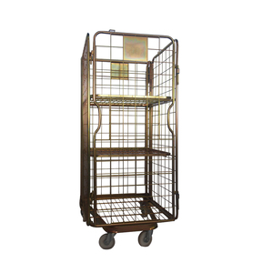 Rolling galvanized steel wire mesh containers