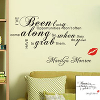 3d wallpaper for home decoration for bedroom art vinyl quotes Marilyn Monroe saying words home interior wallpaper