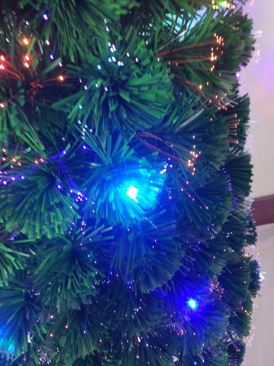 Colorful LED Fiber Christmas Tree 5FT/150CM With Big Star For Christmas Decor