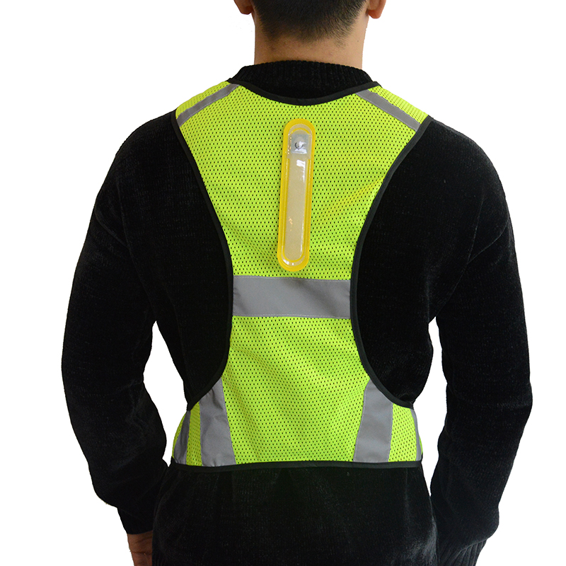 Amazon best selling new adjustable reflective high visible <strong>safety</strong> led cycling vest