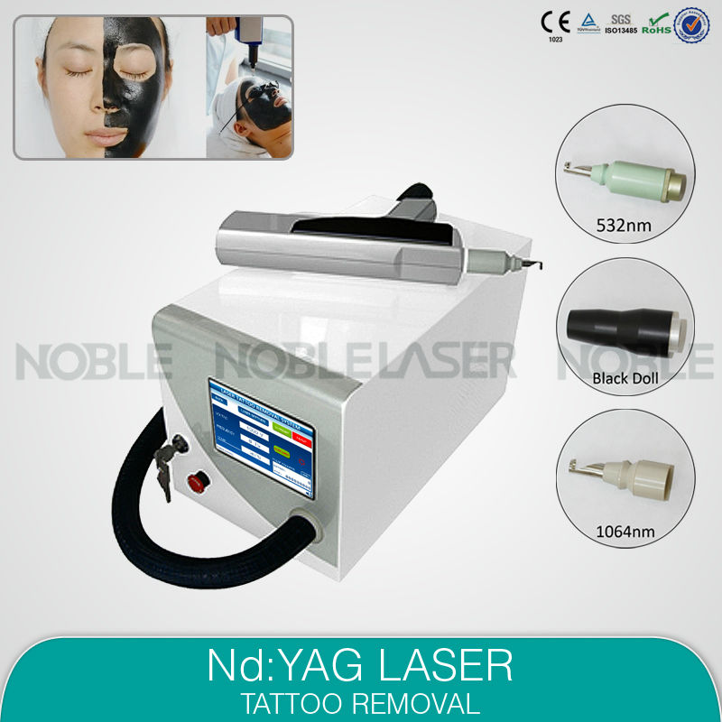 CE approved high power 3 years warranty Tattoo Laser Removal Machine Q-Switch ND:YAG Device for body art