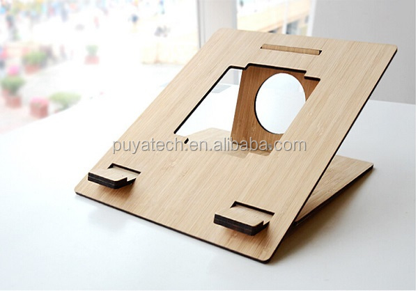 laptop stand easy to assemble bamboo wood stand holder stand for ipad
