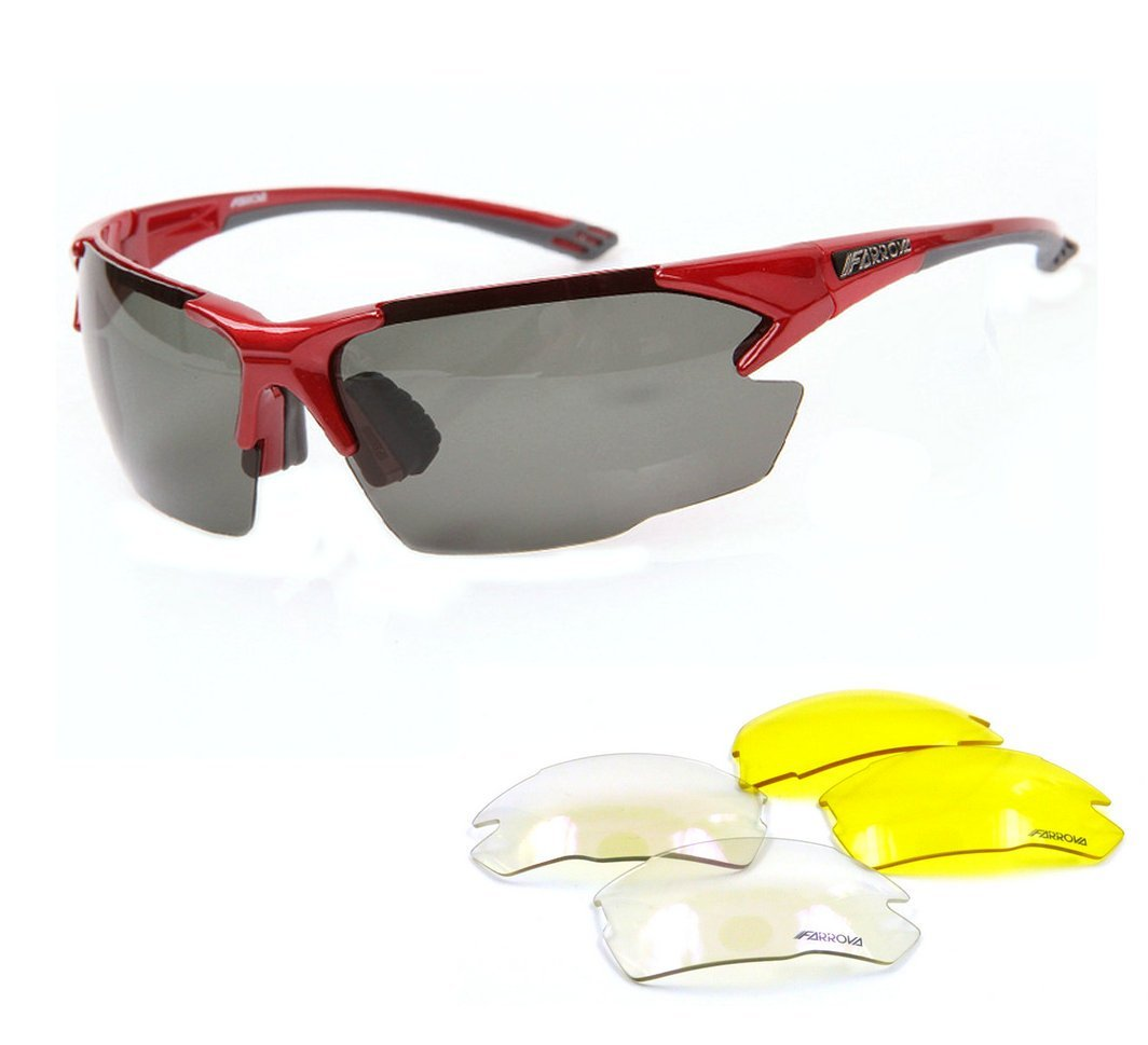 94968897599 Get Quotations · FARROVA - AX5014 POLARIZED Sports Sunglasses with 3 Set  Interchangeable Lenses (Main Black Grey Lenses
