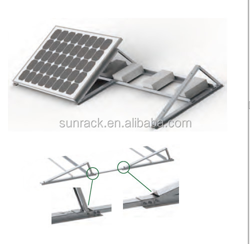 Aluminum Racking System Flat Roof Rack Mount For Home