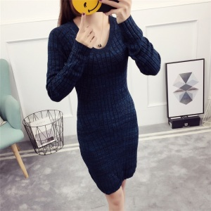 Sexy Knit V Neck Dress Woman mature women in tight sweater Sweater Long Design