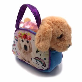 93d5d3bcf87 Mooie Pluche Hond Speelgoed Knuffels Draagtas Speelgoed Hond Handtas Voor  Meisje Geschenken