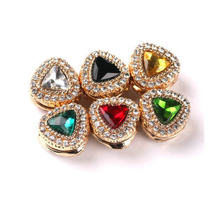 2018 New Style Muslim Headscarf Buckle Triangle Crystal Women Magnetic Brooch