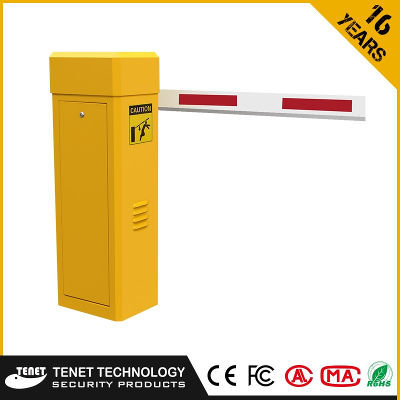 Flexible gate arms barrier gate with AC motor remote control system
