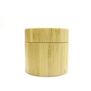 200g bamboo cream jar wide mouth cosmetic jar empty wooden jar BJ-19N