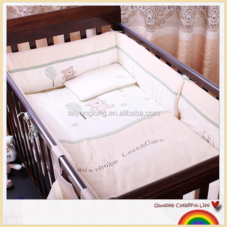 Estilo Europeo Muebles De Madera Del Bebé Cuna Convertible/bebé Cama ...