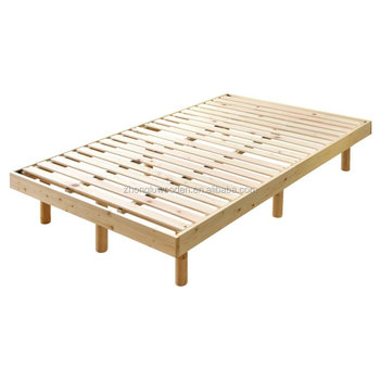 Export To Japan Hinoki Wood Low Platform Wooden Bed Frame Twin Size ...