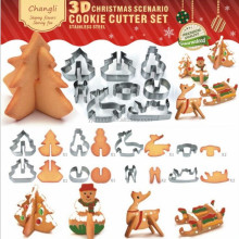 3d cookie cutter set christmas