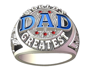 Custom name order Greatest father ring NO 1 fathers ring for Father's day best gift copper ring