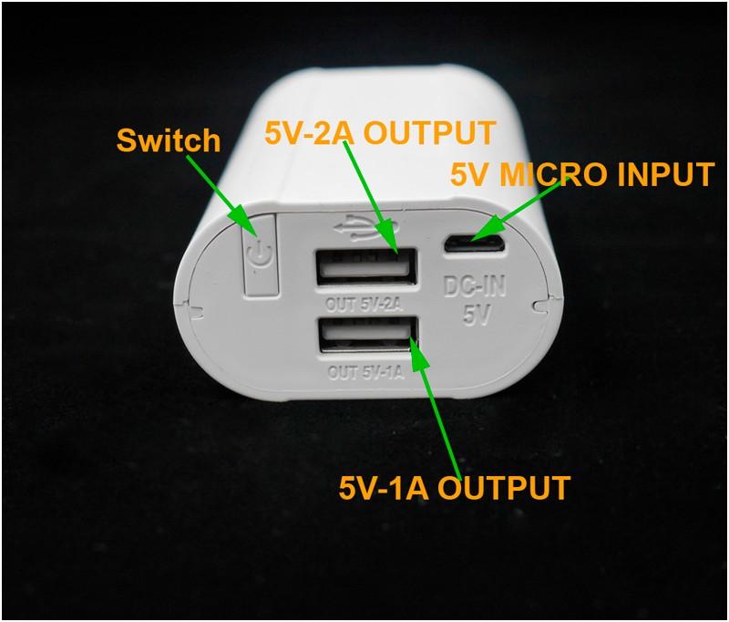 DIY Power Bank Case External Backup 18650 Battery Charger