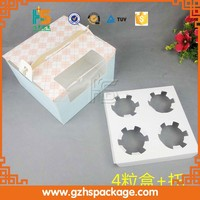 Single layer coated paper & food paper cupcake box printing with paper insert