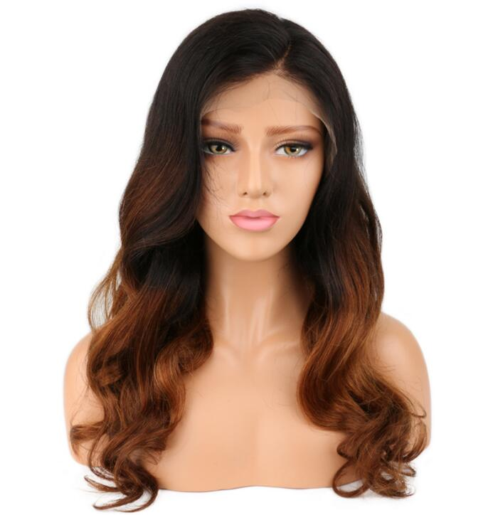 1B/30 brown <strong>body</strong> <strong>wave</strong> remy <strong>human</strong> <strong>hair</strong> long front lace/full lace wigs with baby <strong>hair</strong> Brazlian/Peruvian/Indian <strong>hair</strong> available