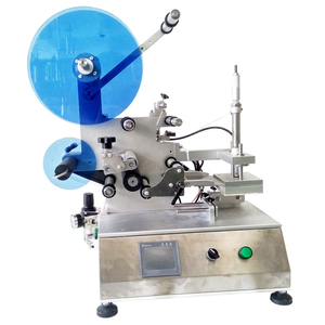 Semi-automatic Round Bottle Labeling Machine / Manual Vial Bottle Label Applicator