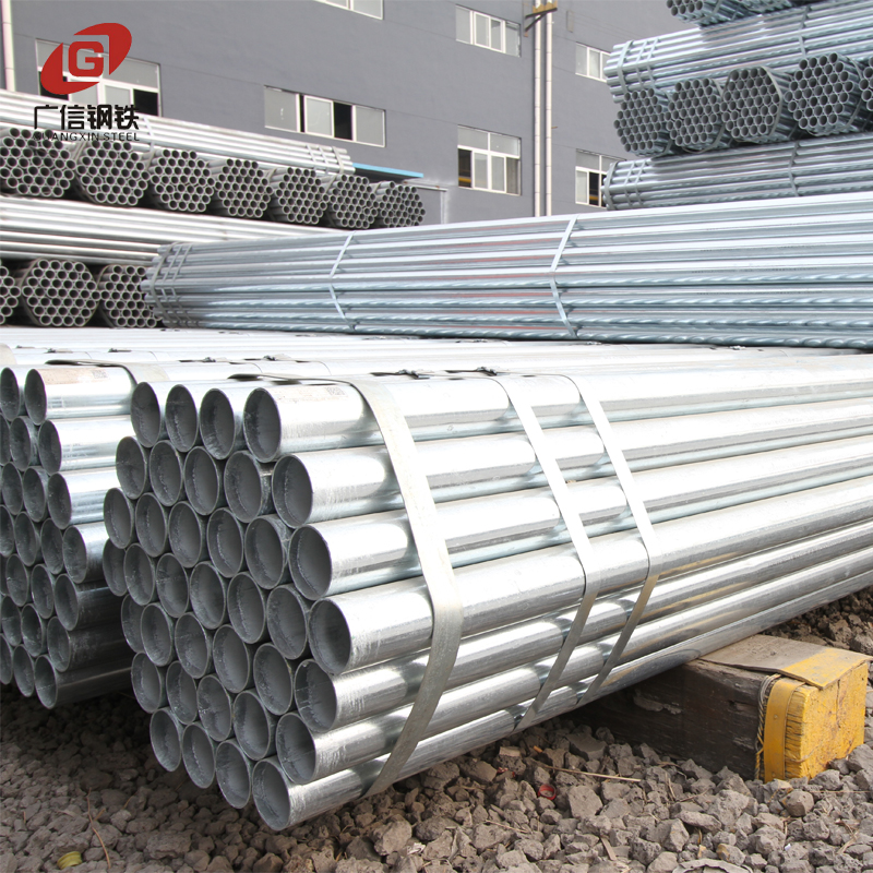 Erw welded carbon pre galvanized round section steel pipe