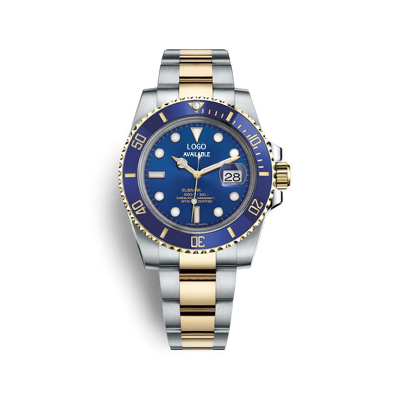 Rolexable Dive 116613LB Stainless Steel Mechanic Watch with Blue Dial ETA 2836 Automatic Movement
