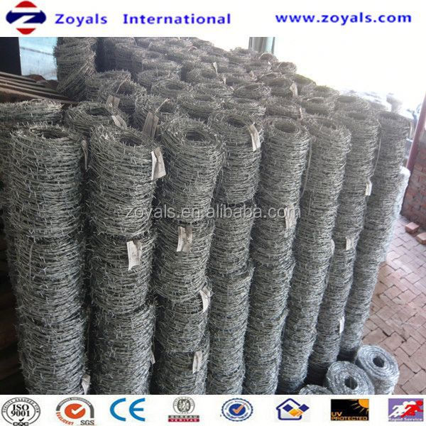 ISO9001:Good Quality Constraction Material Galvanized Barbed Wire Made In China