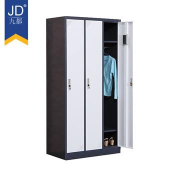 Home Furniture 3 Door Steel Locker Godrej Steel Almirah Design Steel Locker  Clothes Cabinet
