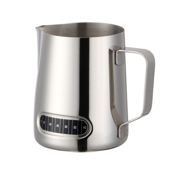 Ihch Whole Stainless Steel Metal Espresso Latte Milk Coffee Jug With Thermometer