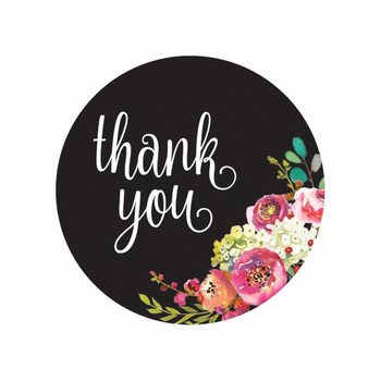 Round Thank You Stickers Custom Shape and Thank You Stickers
