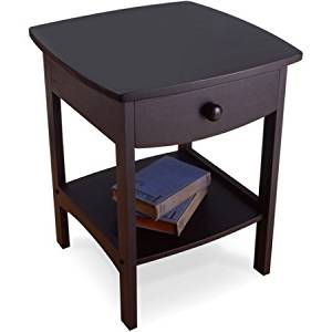 Curved Nightstand/End Table (Black)