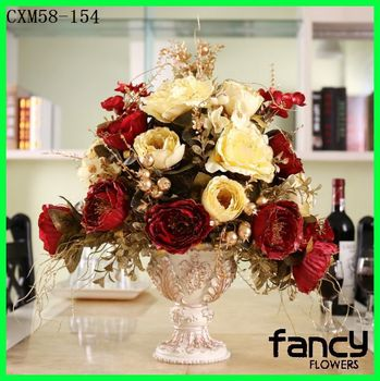 Artificial European Style Dry Flower Arrangements For Sale And Top