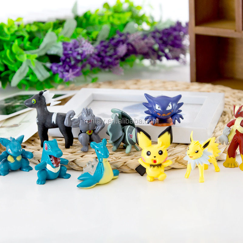 Factory Direct 25-30mm 133pcs Series PVC Home Decoration Cartoon Pekachu Resin Pokemon Furnishing Articles
