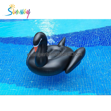 Inflatable Swimming Pool toys , Giant Mattress Inflatable Black Swan Pool Float