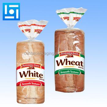 Food Grade Custom Made Plastic Bread Bag Printed Poly Cellophane Design