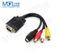 VGA Male to S-Video 3 RCA Female Video Cable AV TV Adapter Converter for PC Computer Laptop