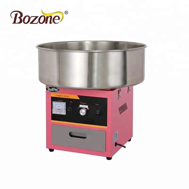 EC-03 High Capacity Electric Marshmallow Snack Making Machine High Quality Commercial Pink Cotton Candy Floss Machine