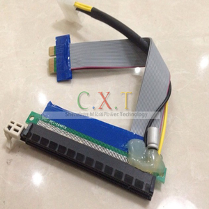 PCI-e X1 to X16 Riser Card 19cm Extender Ribbon Cable with w/ Molex Connector