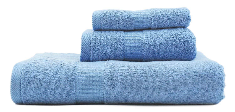 AmeriBamboo High-Quality Bamboo Rayon 600 GSM - 3-Piece Premium Towel Set (Light Blue)