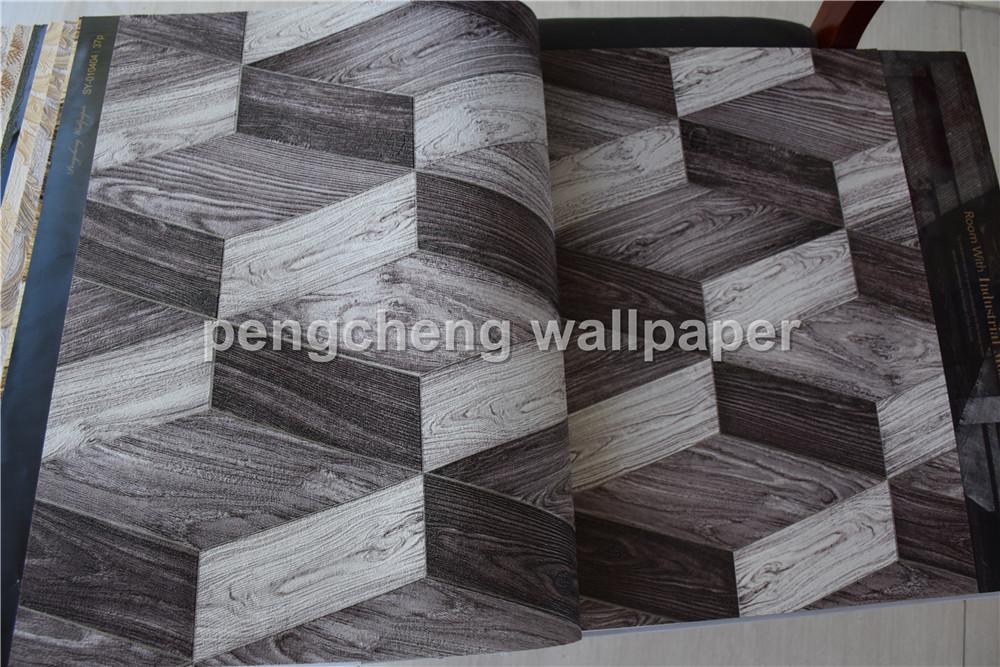 Nouveau d design papier peint en bois design papier peint