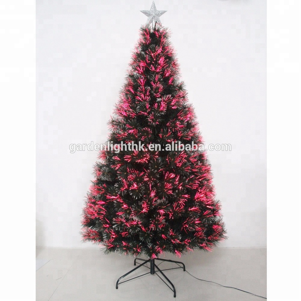 Best 6ft Led Christmas Decor Trees Green Pre Lit Fiber Optic Tree With Star