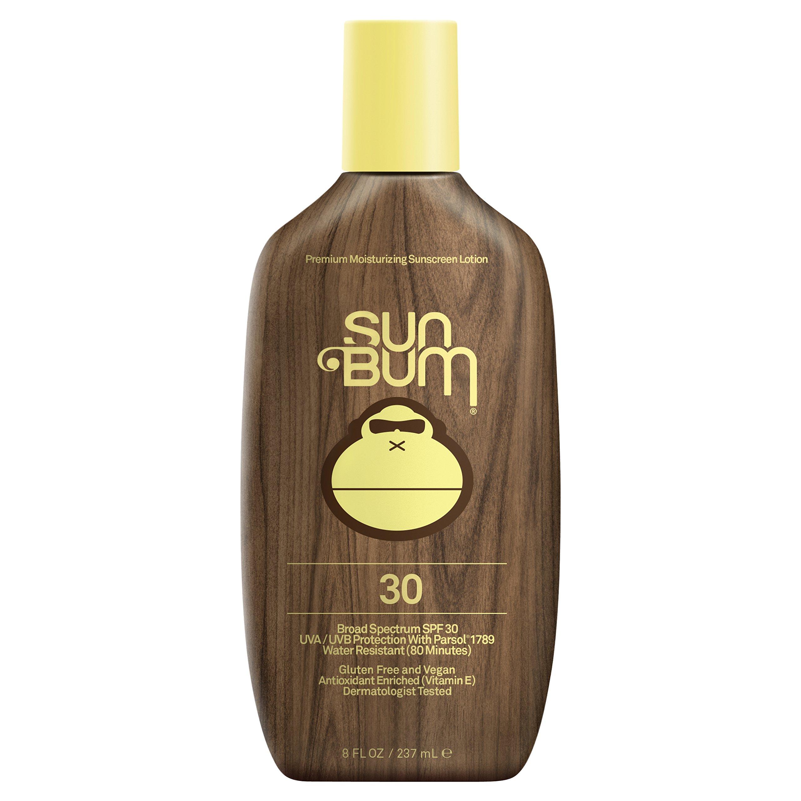 Sun Bum Original Moisturizing Sunscreen Lotion, SPF 30, 8 oz. Bottle, 1 Count, Broad Spectrum UVA/UVB Protection, Hypoallergenic, Paraben Free, Gluten Free