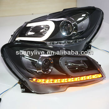 For Mercedes-benz W204 Led Strip Head Lamp 2012-13 Year C Type - Buy For  Benz W204 Headlamp,For Benz W204 Headlight,Head Light W204 Product on