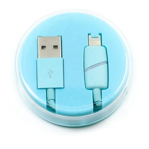 Led Light Fast Charging Usb Cable for iphone cable 3.0 TPE cable