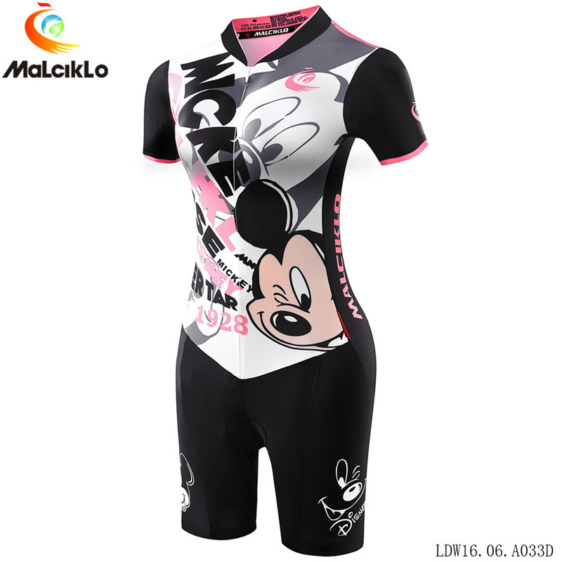 2018 ciclismo maillot short sleeve cartoon animal cycling jersey set women triathlon women bike clothing