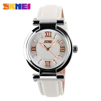 Best sale select skmei 9075 japan movt ladies watches luminous leather strap watch in Alibaba
